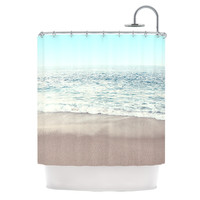 "Monika Strigel ""The Sea"" Blue Coastal Shower Curtain"