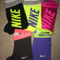 "Nike Pro Core Combat 3"" Compression Shorts Spandex (1-Pair) Yoga Running Tights"