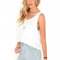 Missguided - Ceryssa Loose Fit Crop Top In White