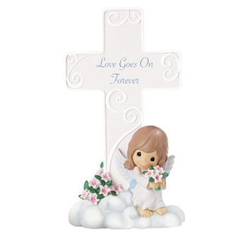 Precious Moments Love Goes On Forever Cross