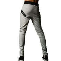 Zehui®  Men Harem Trousers Skinny Pants Legging Straight Fit Sports Sweat Pants