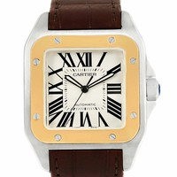 Cartier Santos 100 automatic-self-wind mens Watch W20072X7 (Certified Pre-owned)