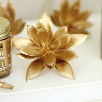 Liquid Gilding One-Step Leafing Paint in Metallic Gold - .75 oz