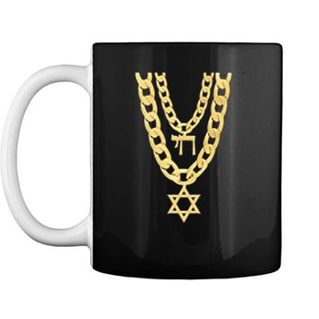 Jew Chai Bling Chain Hanukkah Festival Of Lights Jew  Mug