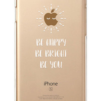 iPhone Rubber Case - 'Be' - iPhone 6s case, iPhone 6 case, iPhone 6 Plus case - Clear Flexible Rubber TPU case IC01