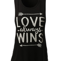 LE3NO Womens Lightweight Loose Fit Sleeveless Fun Print Top (CLEARANCE)