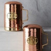 Hammered Copper Salt & Pepper Shakers by Anthropologie in Copper Size: Set Of 2 Kitchen
