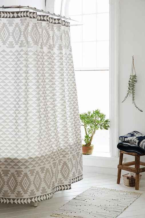 4040 locust pyramid geo shower curtain from urban outfitters. Black Bedroom Furniture Sets. Home Design Ideas