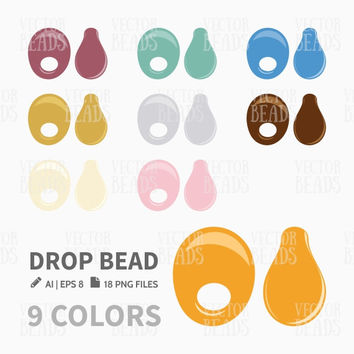 Miyuki Drop Bead Clip Art. Bead Vector Graphic, Vector illustration of beads, Bead download for commercial use