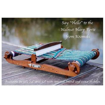 Kromski Harp Forte Rigid Heddle Looms - Walnut Finish