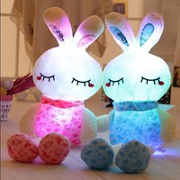 70CM lovely pink rabit plush toys for children boy and girls night luminous plush toy in Christmas gift and birthday to kids