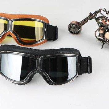 Aviator Goggles, Retro Goggles For Harley, Steampunk Goggles, Motorcycle Pilot Glasses, Cruiser Scooter Biker