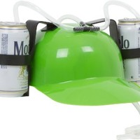 Beer and Soda Guzzler Helmet (Green)