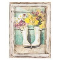 Flowers in Boots Framed Wall Art | Shop Hobby Lobby