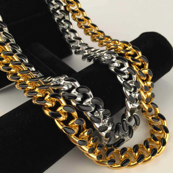 New Arrival Gift Stylish Shiny Jewelry Black Necklace [6542741635]