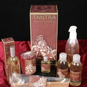 Tantra Erotic Kamasutra Sex Gift Set By Flaires Oil Gel Perfume Candle Bubble Bath