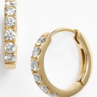 Women's Bony Levy Small Diamond Hoop Earrings (Limited Edition) (Nordstrom Exclusive)