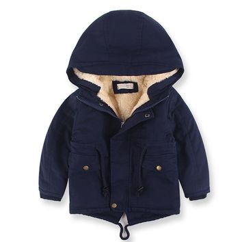European Style New 2017 winter boy coat children's clothing warm trench thickening kids coat jacket