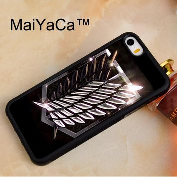 Cool Attack on Titan MaiYaCa  Wings Of Liberty Flag For iPhone 5 5s SE Case Protect Case Cover Shockproof TPU Hard Phone Cases Coque AT_90_11