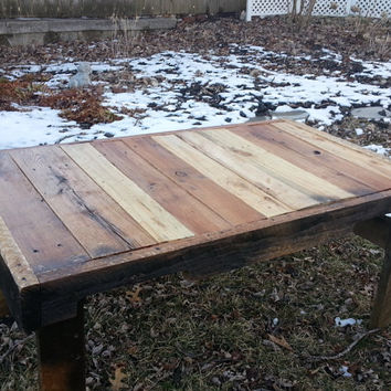 Pallet Wood Rustic Coffee Table