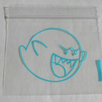 100 (Blue Boo Ghost, Mario Themed) 2 x 2 Small Ziplock Baggies, 2020 Mini Dime Bags