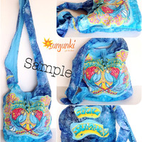 Jimmy Buffett Custom T-Shirt bag, Hippy Satchel, Hobo, One Of A Kind, Purse, Beach Bag, Diaper Bag, Hippie, Gypsy, Travel, Tie Dye Bag