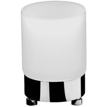 Addition Frosted Glass Round Table Toothbrush Toothpaste Holder Bathroom Tumbler