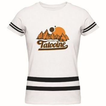 Star Wars Force Episode 1 2 3 4 5  Welcome to Tatooine Adult Womens T Shirt Custom Personalized Logo Tee Shirt New Fashion Brand Ladies Cotton T-Shirt AT_72_6
