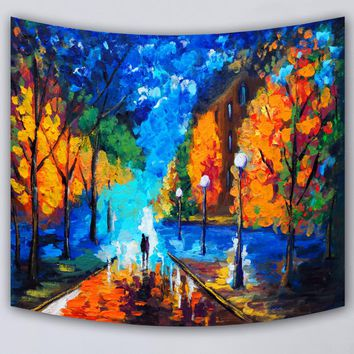 Home Decor tapestry comfortable beach throw towel landscape printed supersoft tapestries