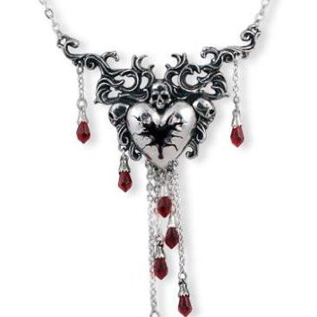 Bleeding Heart Alchemy Gothic Necklace
