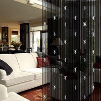 Sparkling Beaded String Door Window Curtain Divider Room Fly Screen Blind Tassel Home Decoration