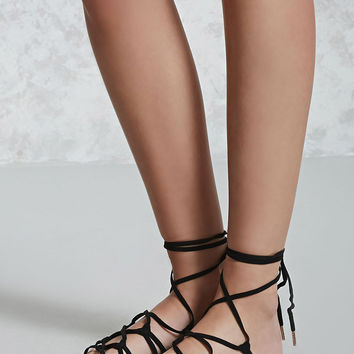 Strappy Ankle-Wrap Sandals