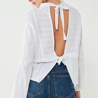 SIR the label Anais Backless Blouse | Urban Outfitters