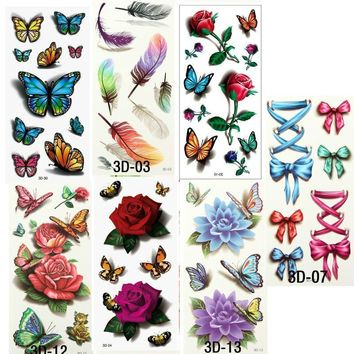 Tattoo Sticker 7PCS Beautiful Cute Waterproof Temporary