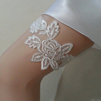 Free ship white silvery   wedding garter  lace bridal  garter bridal  garter belt prom party bridesmaid gift bride