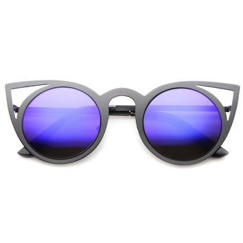 ARAGONA MIRROR LENS CAT EYE SUNGLASSES