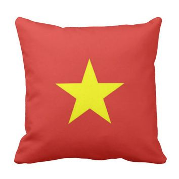 Vietnam Flag on American MoJo Pillow