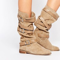 ASOS CANDID Suede Knee High Boots