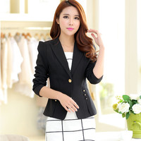 Blazer Feminino Jackets Women The New Spring Coat Youpin Library Female Ol Slim Sleeved Button A Small Fashion Women's Suit 1120