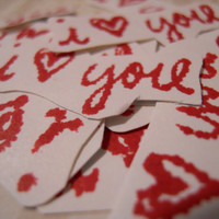 Valentine's Stickers I heart you by ZoeAmaris on Etsy