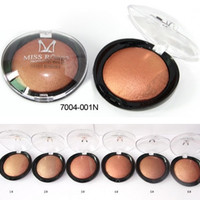 MISS ROSE For Black Women Beauty Face Blush Makeup Baked Cheek Color Bronzer Blusher Palette colorete Sleek Cosmetic Shadow