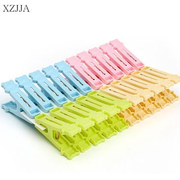 XZJJA 20Pcs/Pack Plastic Clothes Pegs Cute Bear Laundry Hanging Pins Clips Household Clothespins Cartoon Photo Paper Peg Clamp