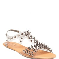 Clear Spiked Sandal - Gunmetal - Shoes | GYPSY WARRIOR