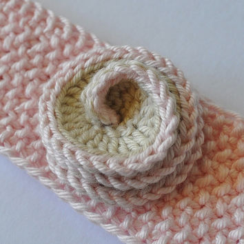 Baby Knit Headband baby girl knit accessories pink baby headband Cotton Headband baby gift