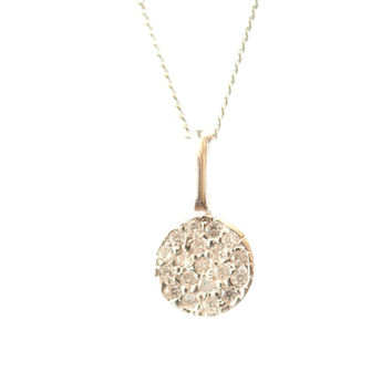 Kids-Pave crystal disc necklace