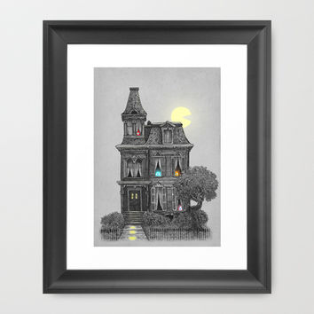 Haunted by the 80's Framed Art Print by Terry Fan