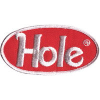 Hole Men's Logo Embroidered Patch Red