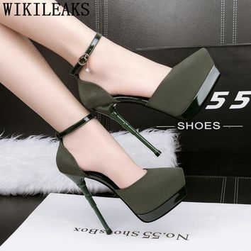 platform heels high mary jane shoes for women designer heels evening shoes extreme heels sandals women pumps women shoes buty