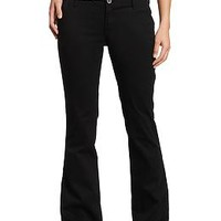 Women's The Diva Everyday Boot-Cut Khakis | Old Navy | Black