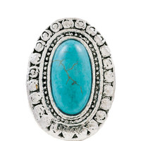 Boho Gypsy Stretch Ring in Turquoise